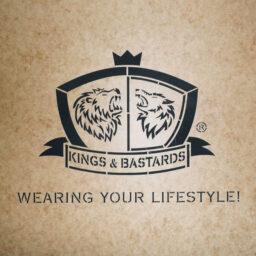 Kistensignierung mit Ölkarton Logoschablone Kings & Bastards